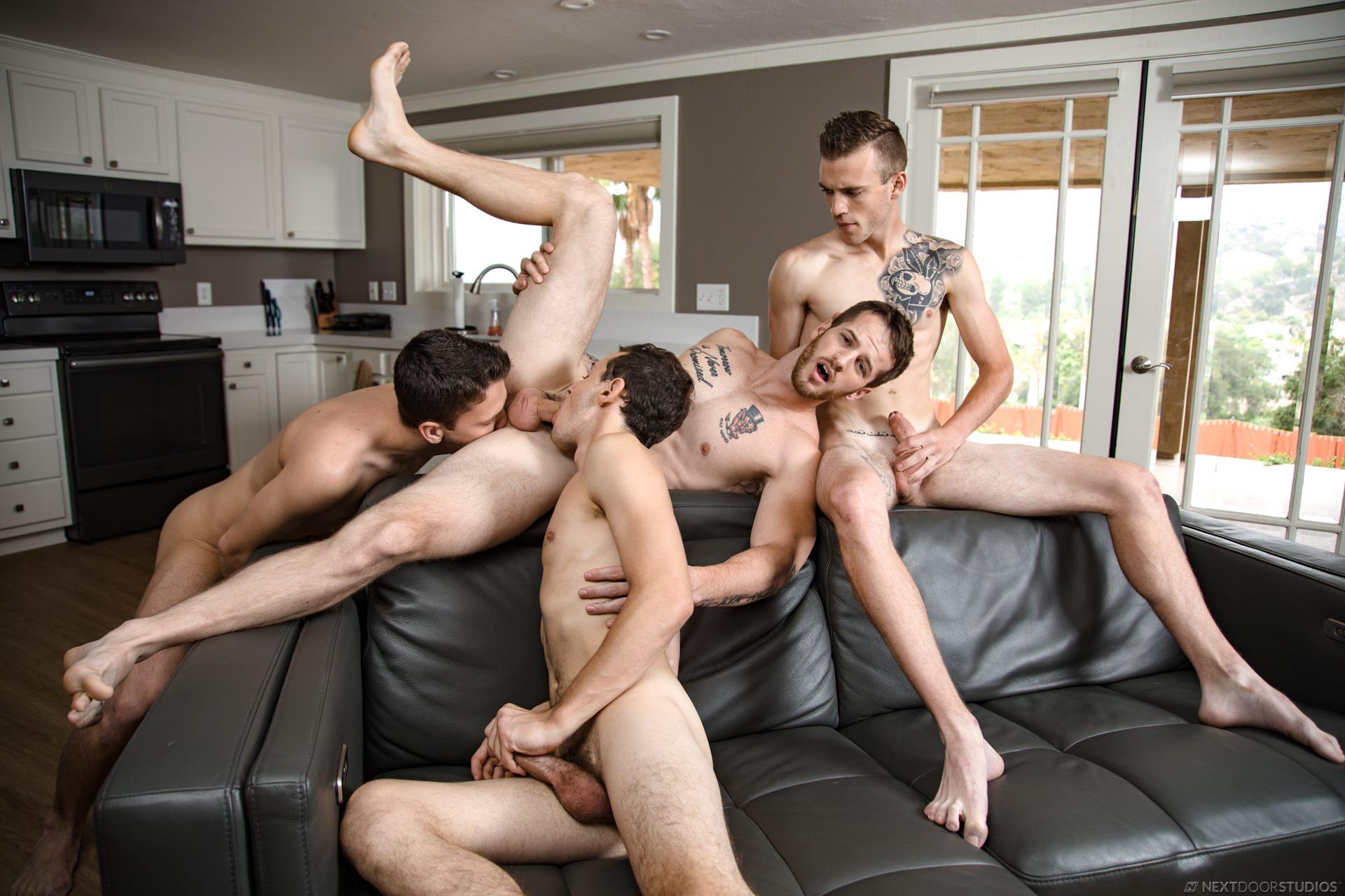 Nextdoorraw all hunks sleepover turns to bb orgy