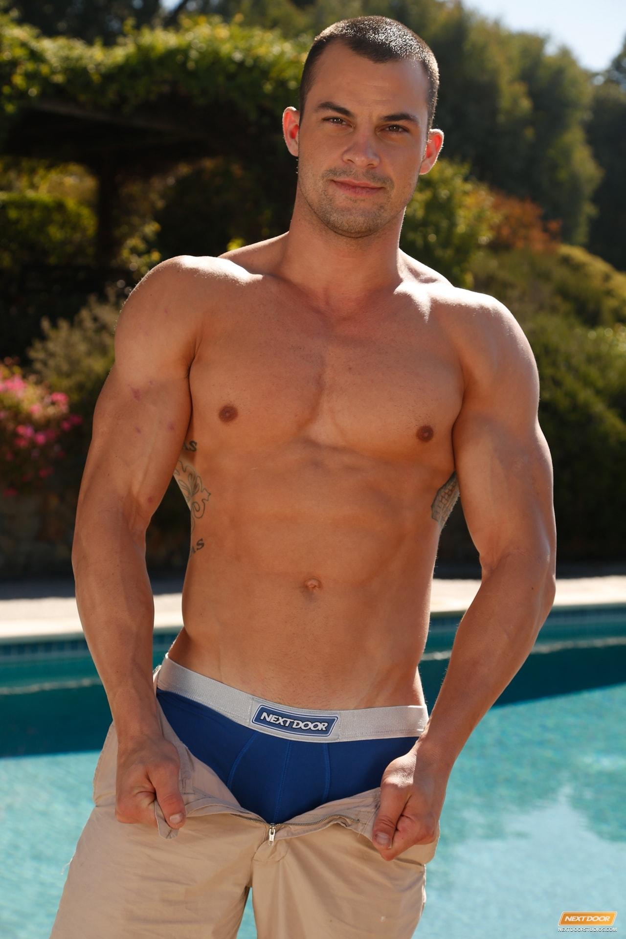 Hot naked muscle boy next door